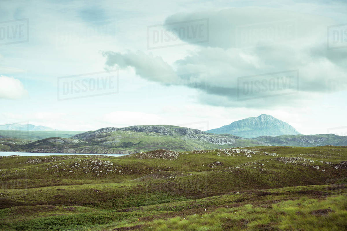 Amazing remote mountains in Scottish highlands Royalty-free stock photo