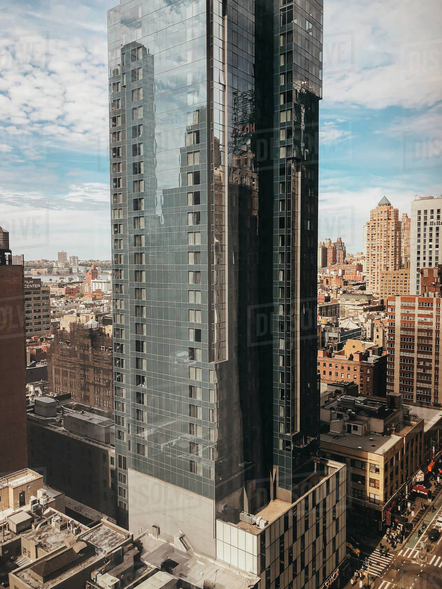 Tall modern building in downtown New York City, New York, USA. Royalty-free stock photo