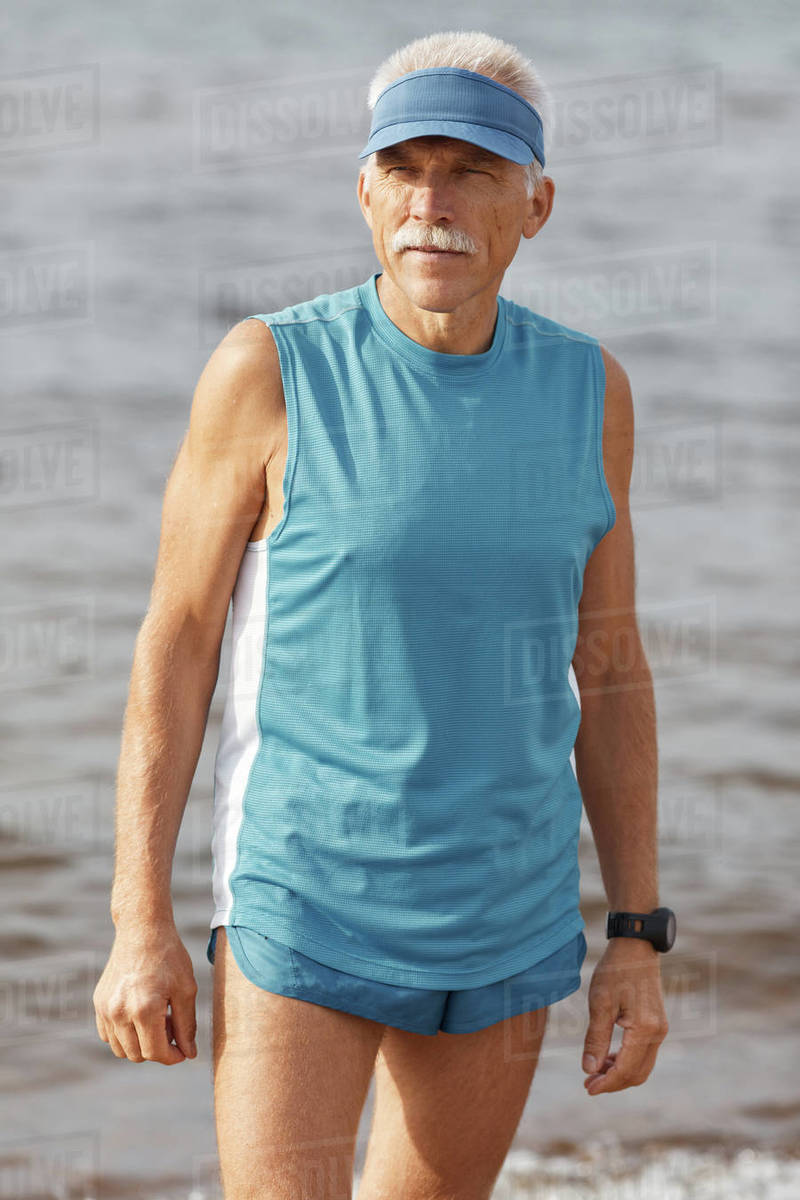 Senior Man Wearing Sporty Summer Outfit Royalty-free stock photo