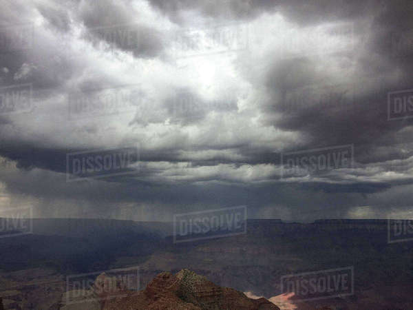 Majestic view of Grand Canyon against stormy clouds Royalty-free stock photo