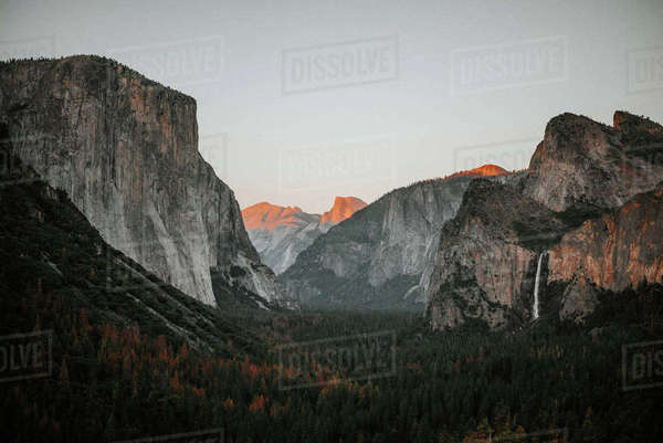 Tranquil view of El Capitan at Yosemite National Park against clear sky Royalty-free stock photo