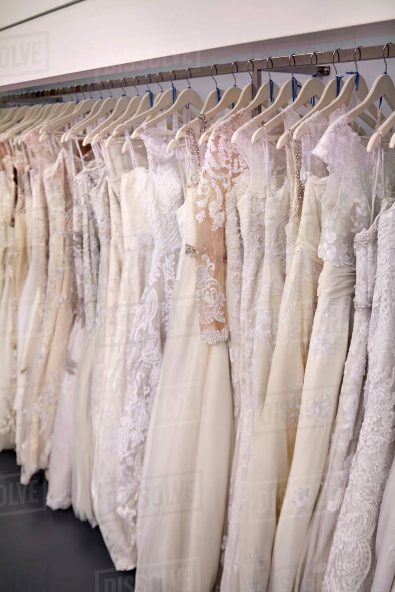 Fight for the Wedding Dresses On Racks,