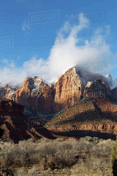 Scenic view of Zion National Park against sky Royalty-free stock photo