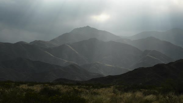 Hand-held shot of mountains in Argentina Royalty-free stock video
