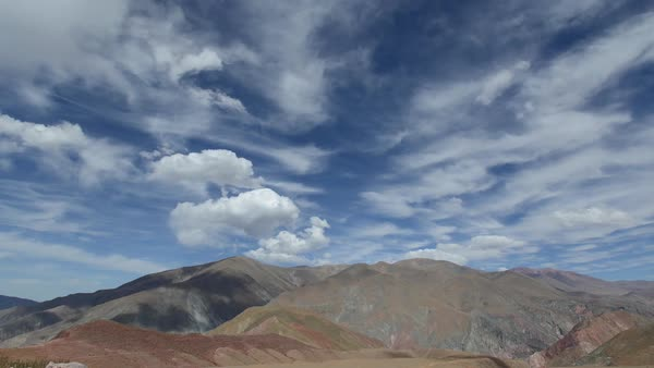 Timelapse of a barren landscape in Argentina Royalty-free stock video