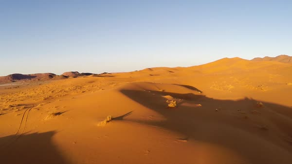 Tracking shot of a desert in Morocco Royalty-free stock video