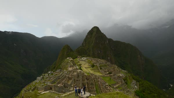 Fast motion of Machu Picchu in Peru Royalty-free stock video
