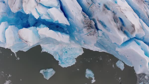 Aerial shot of a glacier Royalty-free stock video