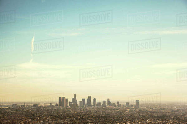 USA, California, Los Angeles, City skyline Royalty-free stock photo