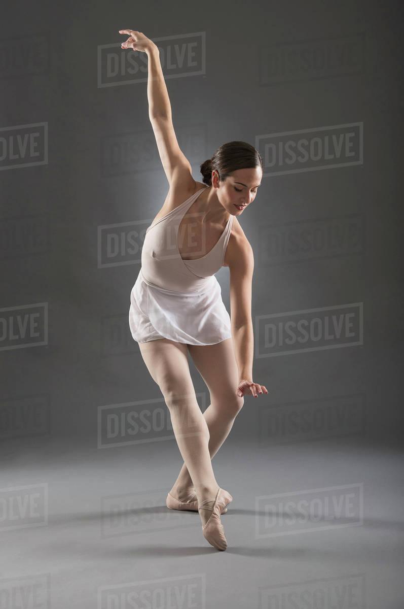 Hispanic Ballet Dancer Posing Stock Photo Dissolve