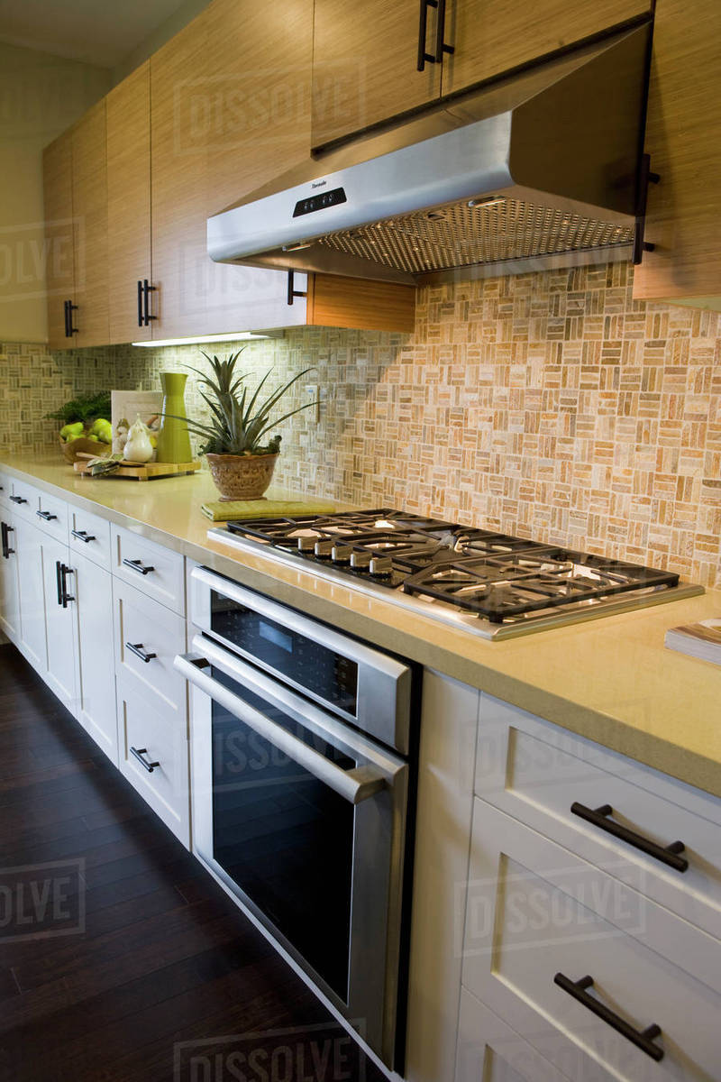 Stove Top And Oven In Contemporary