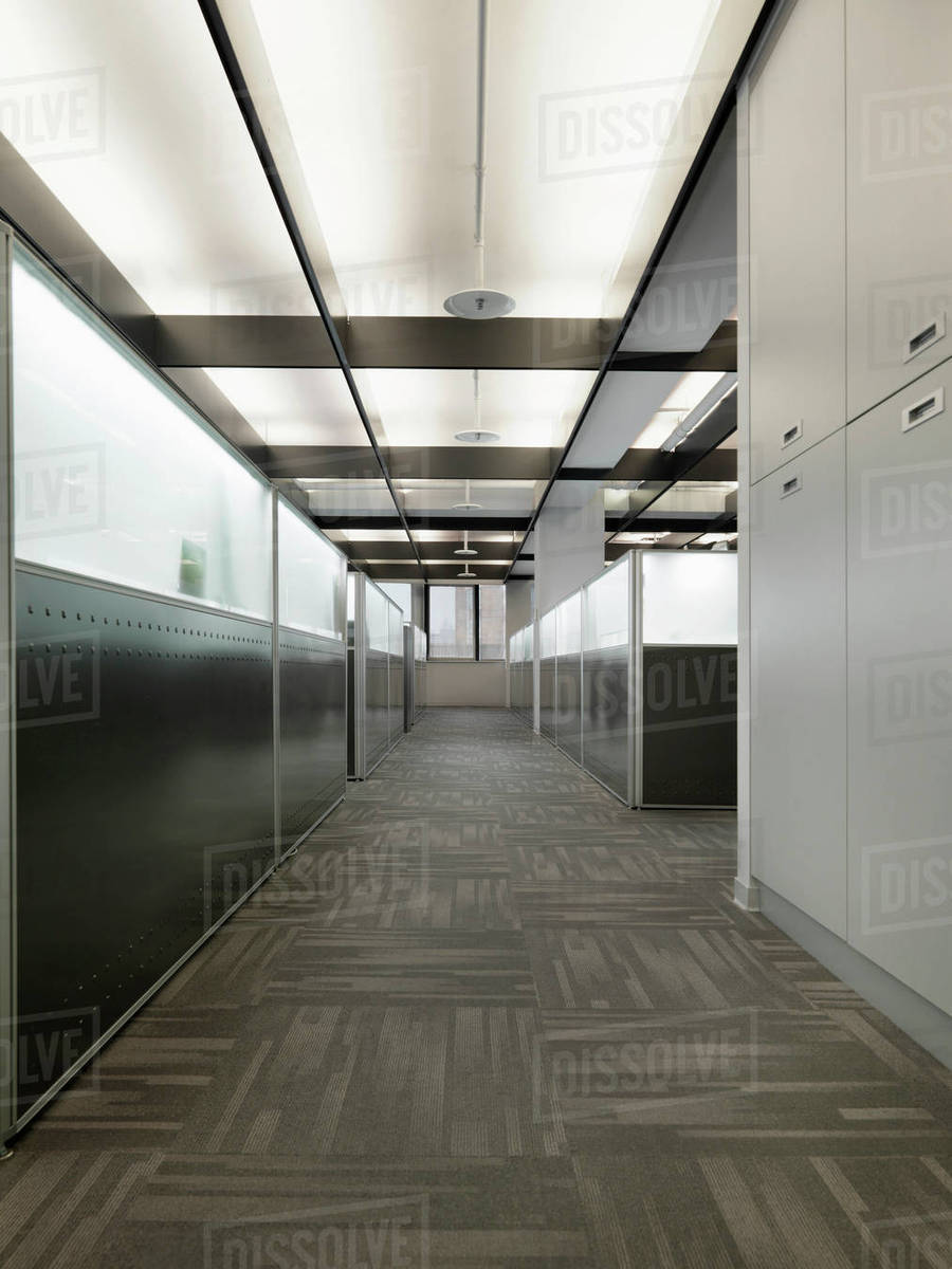 Interior Of A Contemporary Office E With Cubicles