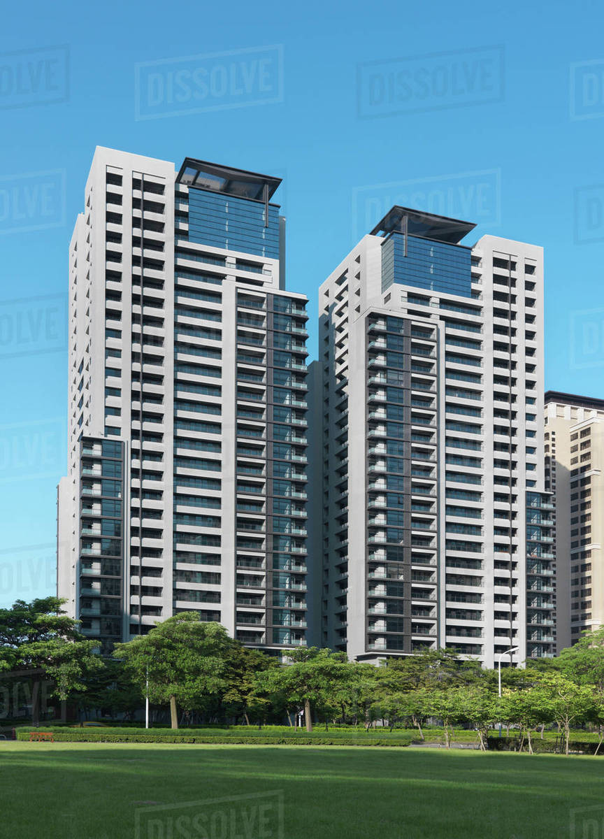 Exterior High Rise Apartment Buildings