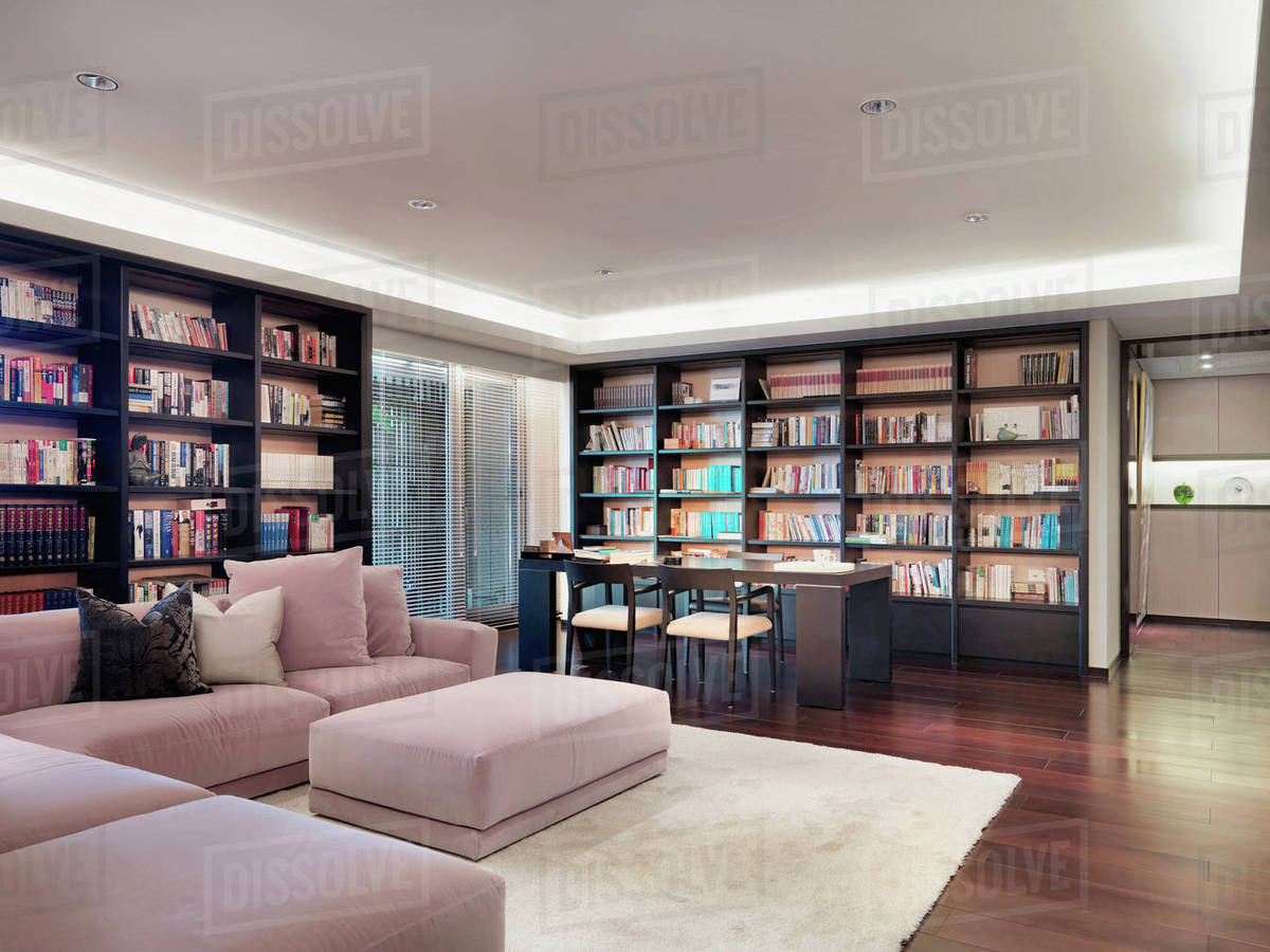 Magnificent Light Pink Corner Sofa In Modern Living Room Stock Photo Complete Home Design Collection Barbaintelli Responsecom
