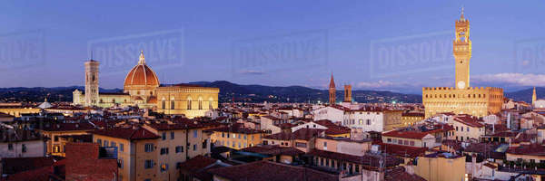 Florence Skyline at Dusk Royalty-free stock photo