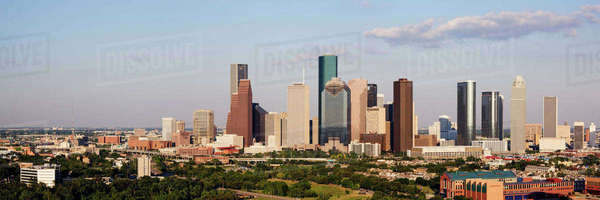 Downtown Houston Skyline Royalty-free stock photo