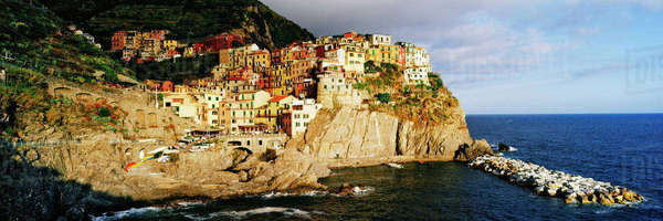 Cinque Terra town of Manarola Royalty-free stock photo