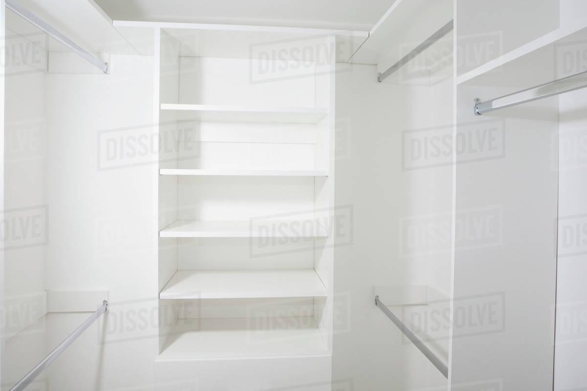 empty walk in closet. Empty Shelves In Walk-in Closet Empty Walk P