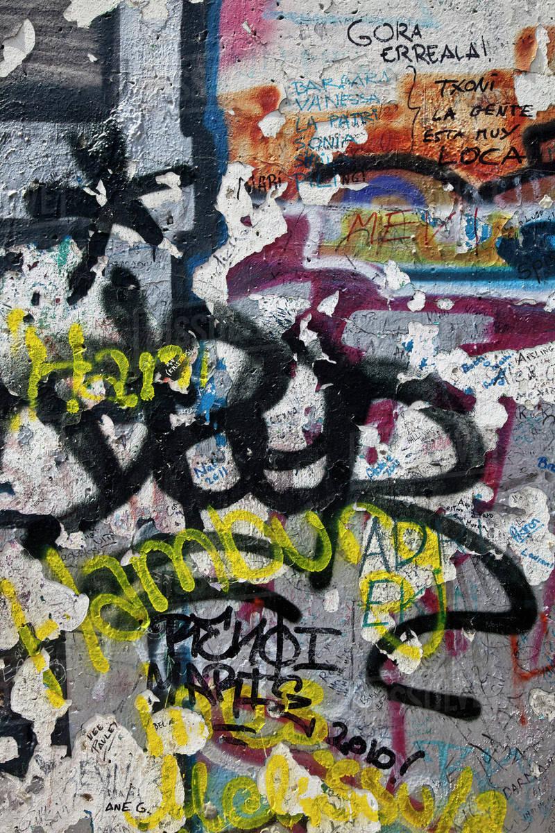 Close up of urban graffiti on wall