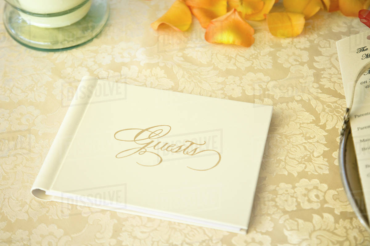 Guestbook On A Table