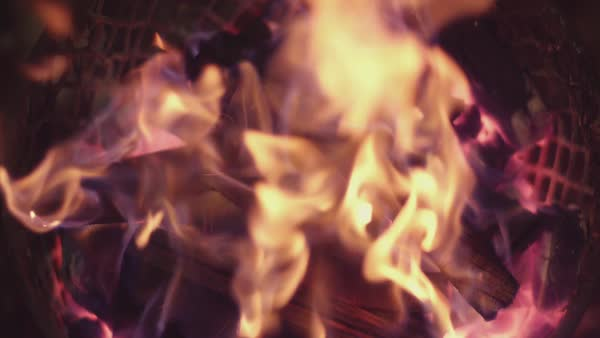 Macro shot of fire burning Royalty-free stock video