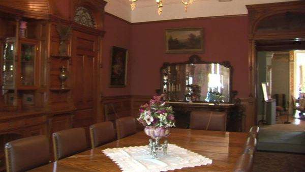 Mansion Dining Room, pan Royalty-free stock video