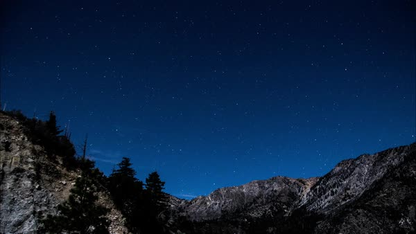 Timelapse of a starry sky at night Royalty-free stock video