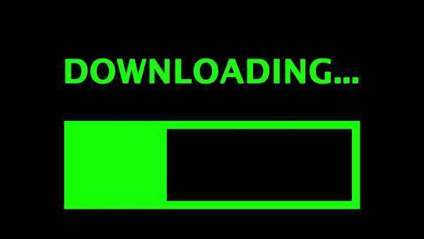Simple downloading text with progress bar. Royalty-free stock video