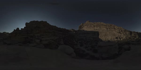 Night 360 timelapse at Warm Creek, Grand Canyon, Arizona. Rights-managed stock video