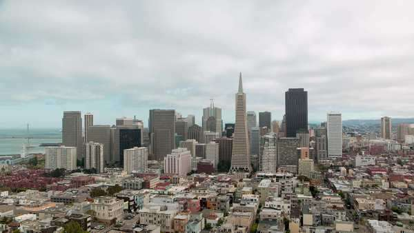 A cityscape timelapse of San Fransico, California during the day, taken from Coit Tower Royalty-free stock video