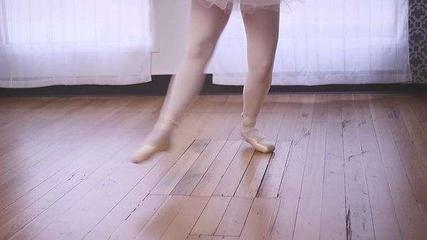 A ballet dancer practicing in a studio Royalty-free stock video
