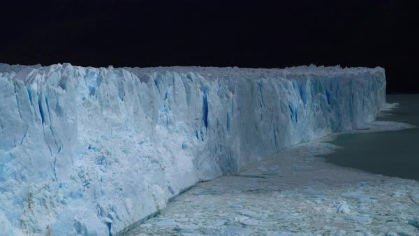 Perito Moreno Glacier moving light and shadow Royalty-free stock video
