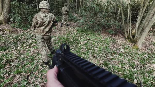 Army training in Forest Royalty-free stock video