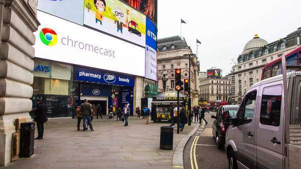 Hyperlapse around Picadilly Circus, in London, UK Royalty-free stock video