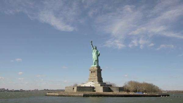 The Statue of Liberty, New York. Royalty-free stock video