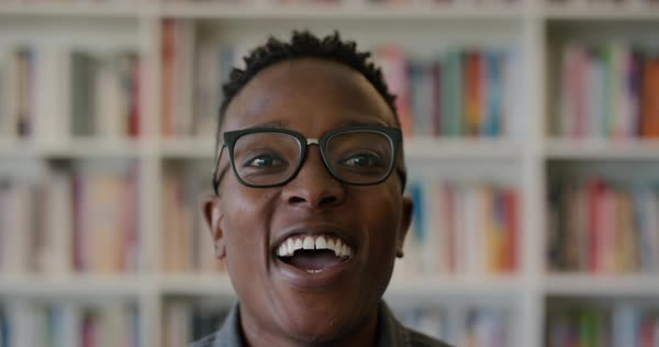 7e67e99da992 Portrait successful young black man student laughing enjoying lifestyle  success intelligent black male looking excited wearing