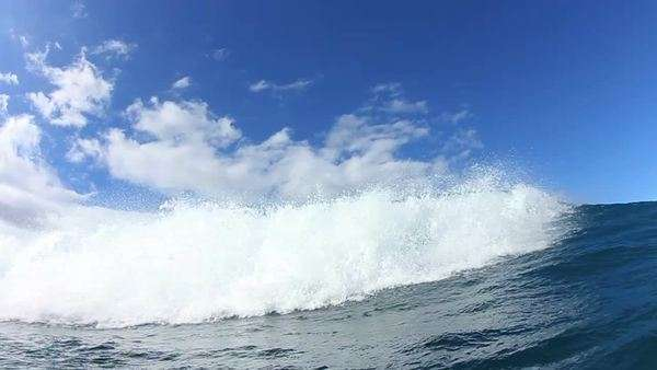 Blue Ocean Wave Crashing Royalty-free stock video