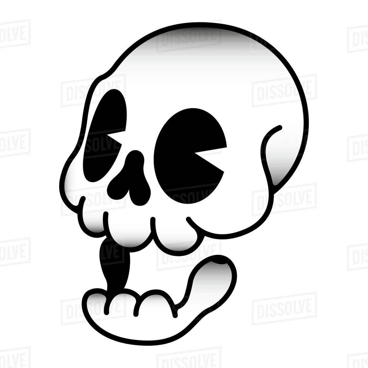 Illustration of skull against white background Royalty-free stock photo