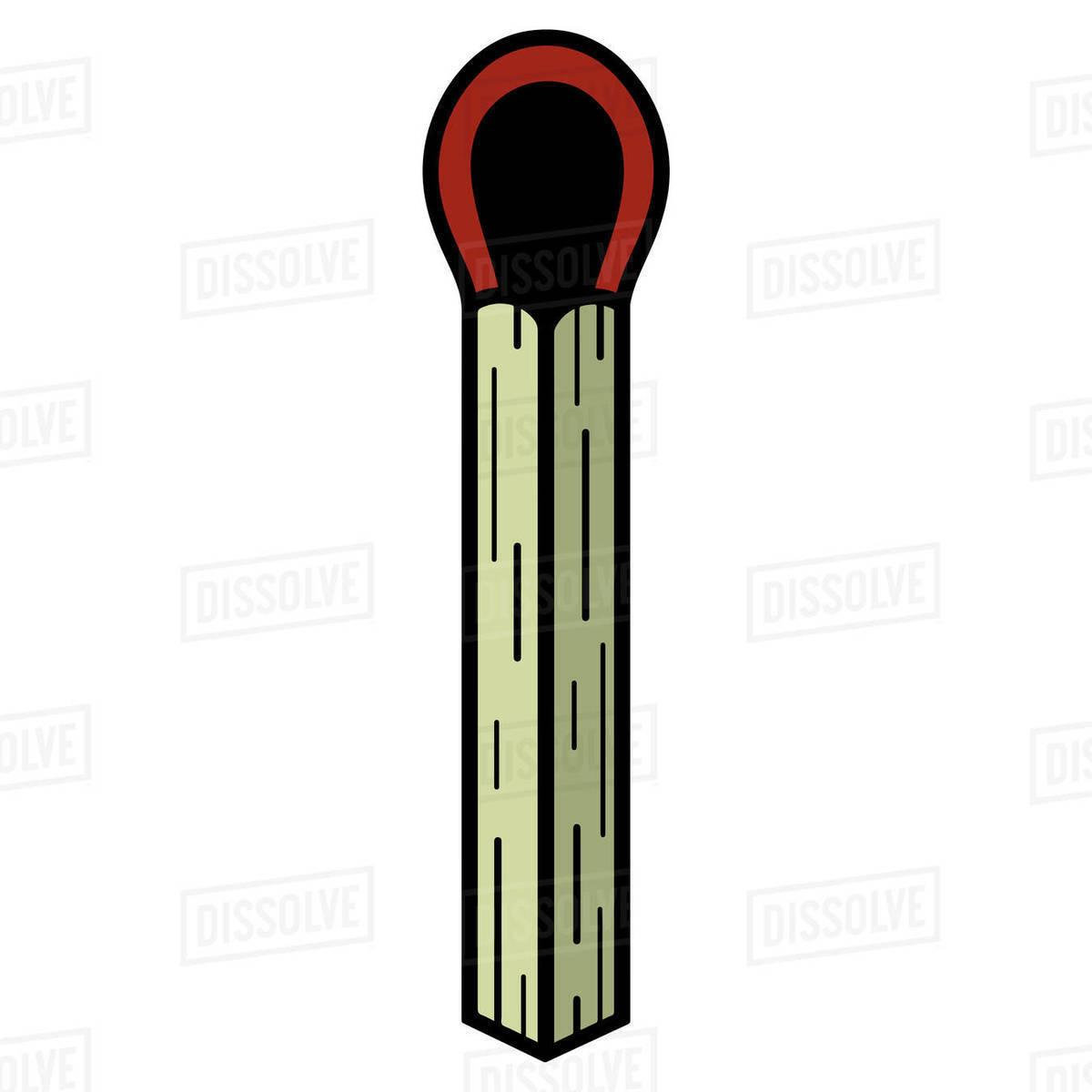 Illustration of unused matchstick isolated on white background Royalty-free stock photo