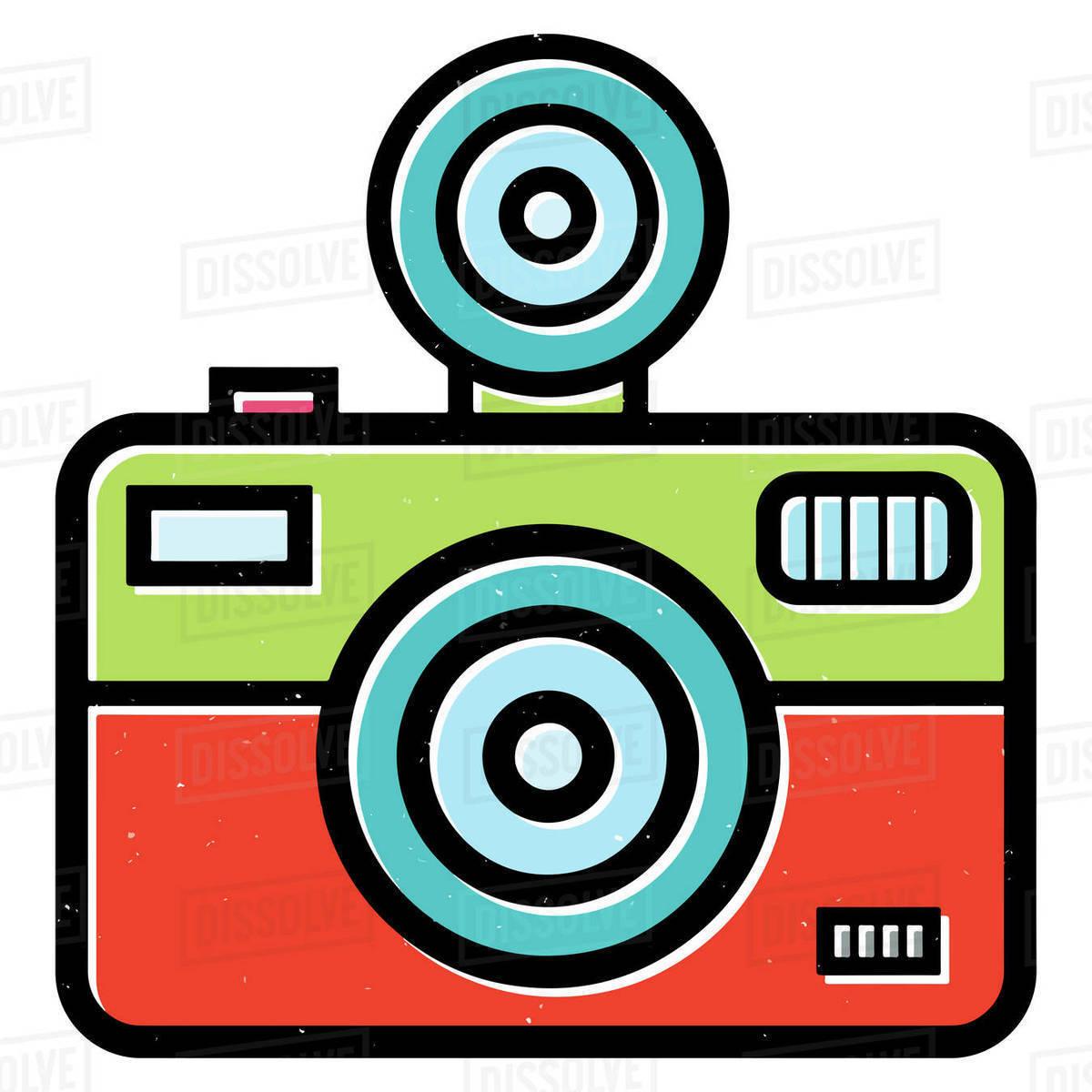 Illustration of vintage camera isolated on white background Royalty-free stock photo