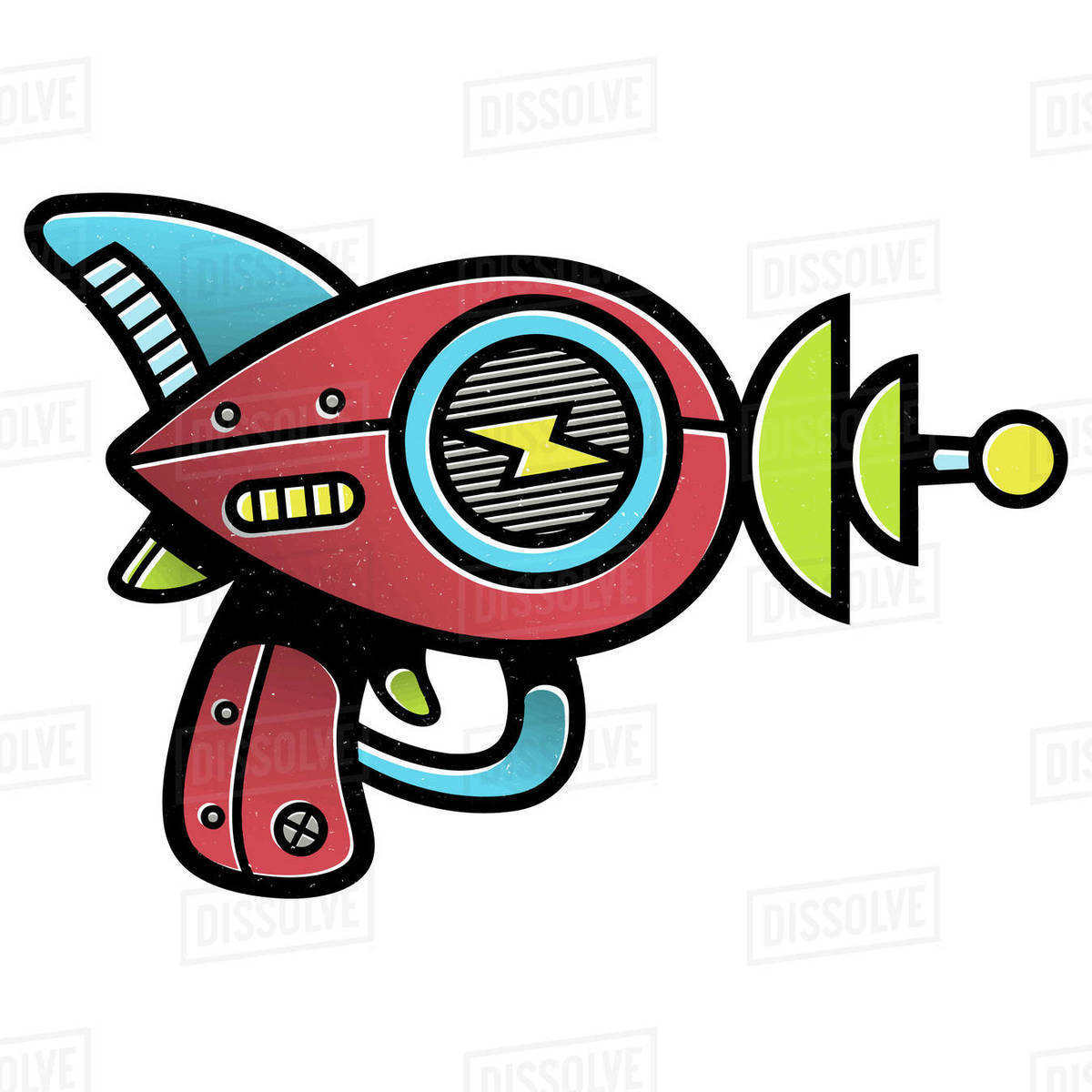 Illustration of laser gun isolated on white background Royalty-free stock photo