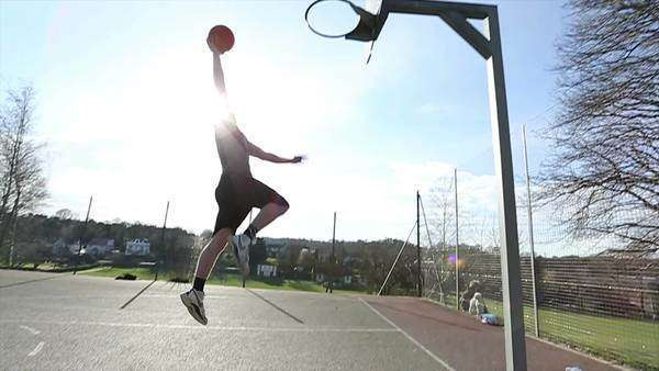 Basketball Player Dunking in Slow motion Royalty-free stock video