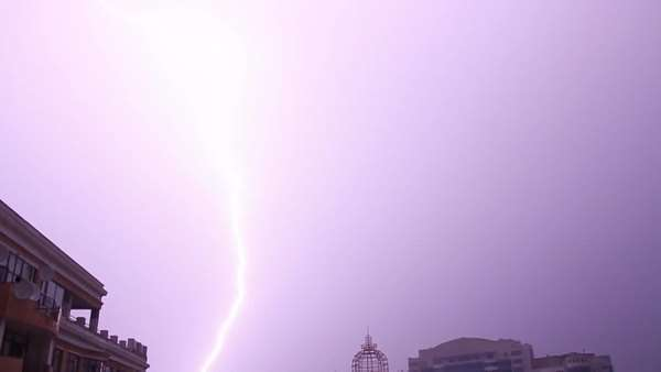 Lightning in the city Royalty-free stock video