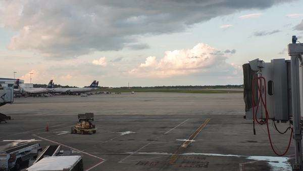 Timelapse at the Philadelphia Airport Royalty-free stock video