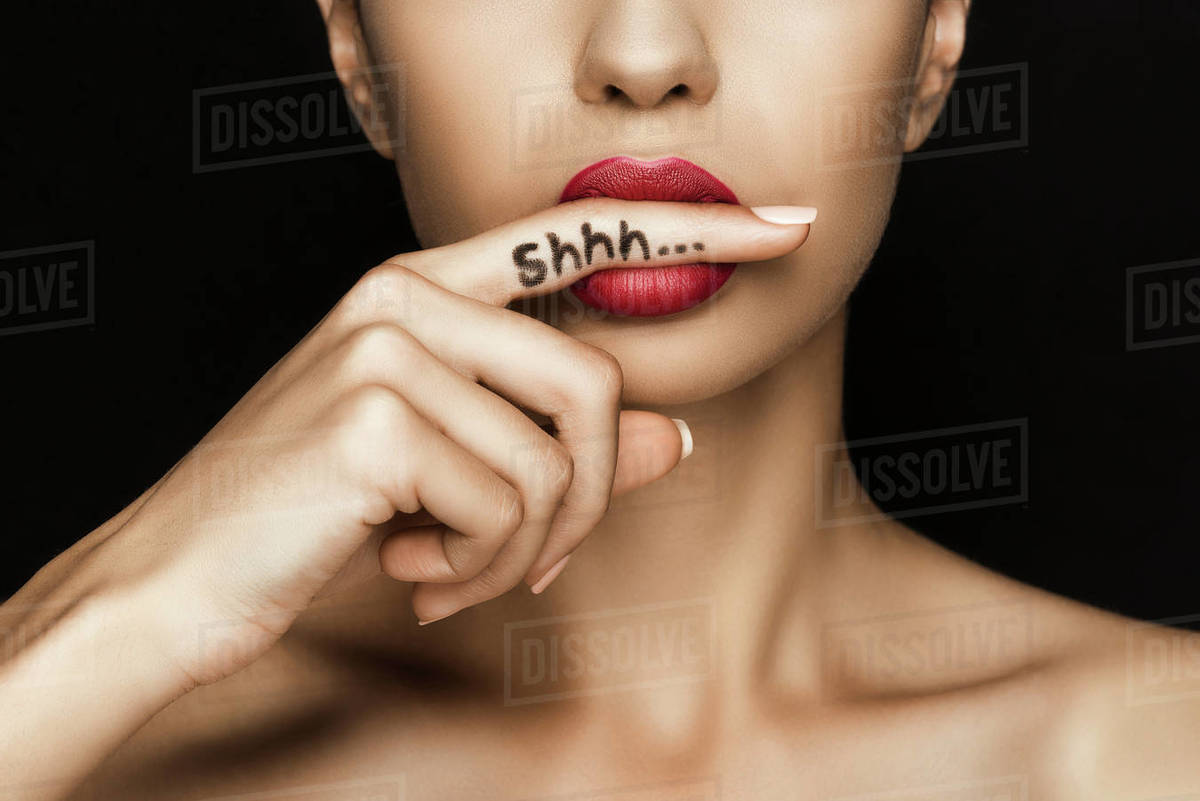 """Poster 24/"""" x 36/"""" Red Lips and Nails"""