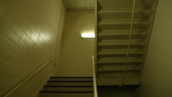 Empty stairwell in a building. - Stock Video Footage - Dissolve