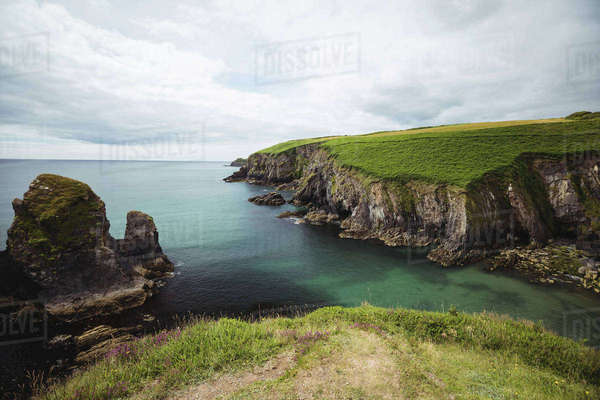View of beautiful rock formation and sea Royalty-free stock photo