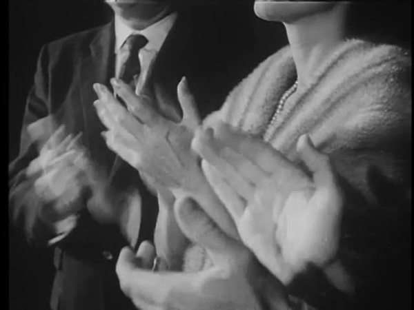 Medium shot of hands clapping Royalty-free stock video