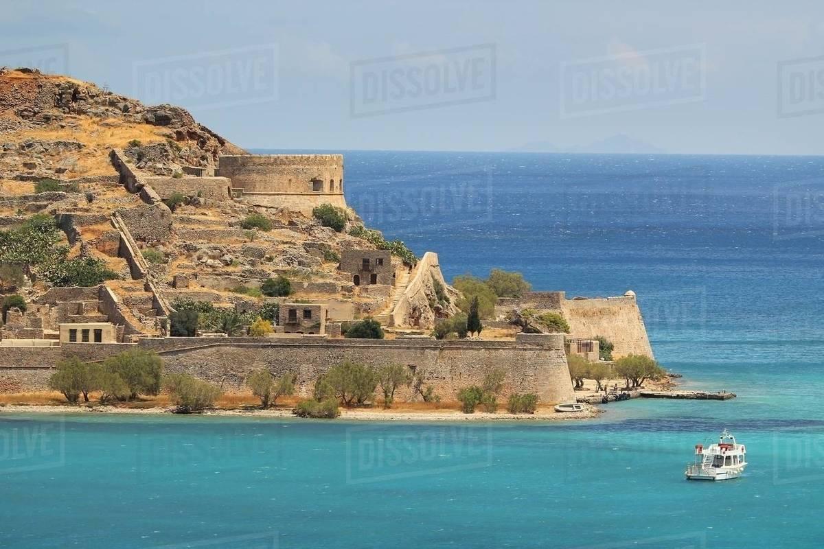 Spinalonga Island Elounda Crete Island Greek Islands Greece Europe D246 107 10688