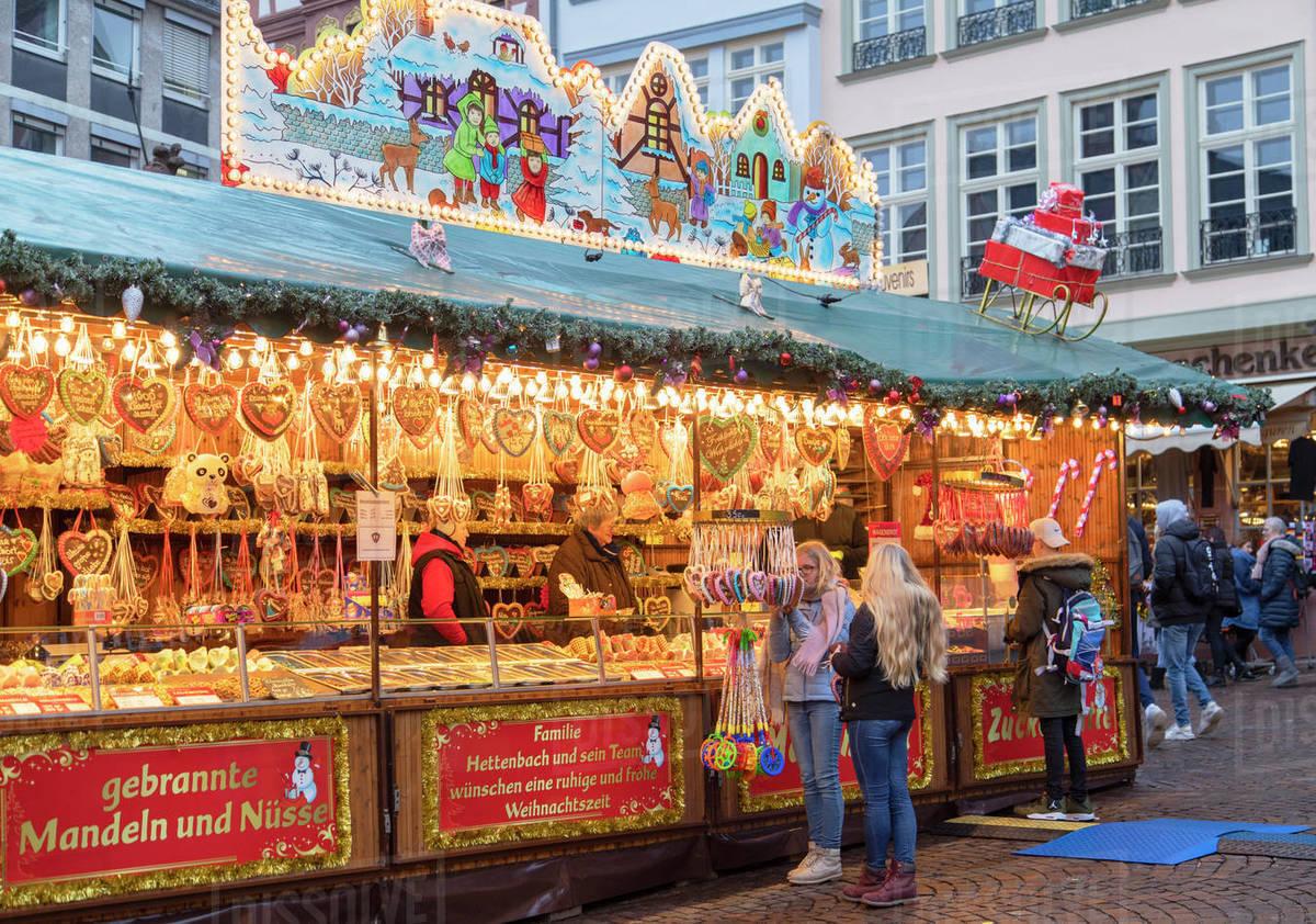 Frankfurt Christmas Market, Frankfurt am Main, Hesse, Germany, Europe Royalty-free stock photo